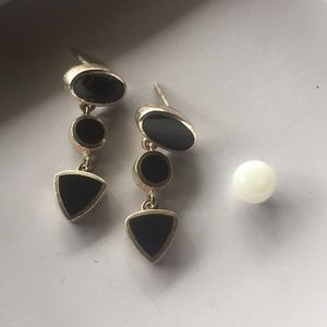 Black Onyx &a Sterling Drop Earrings